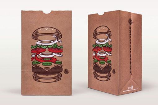 خرید نایلون بسته بندی همبرگر
